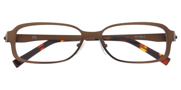 Constable Rectangle Prescription Glasses - Brown