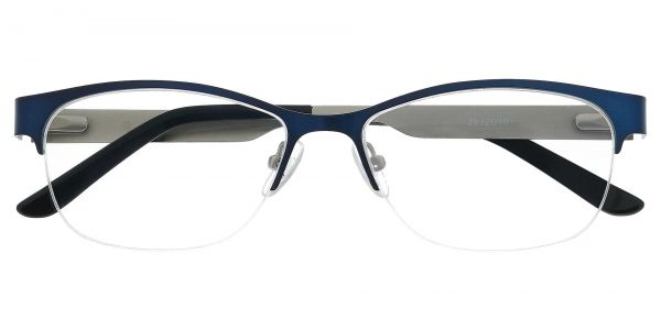 Bombay Rectangle Prescription Glasses - Blue