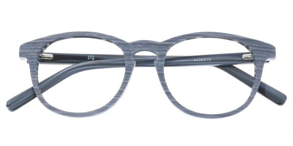 Lathe Oval Prescription Glasses - Gray