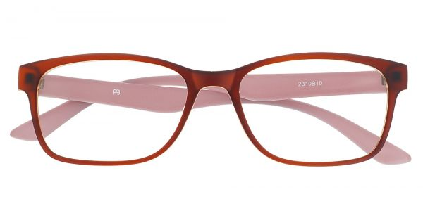 Osmond Rectangle Prescription Glasses - Brown