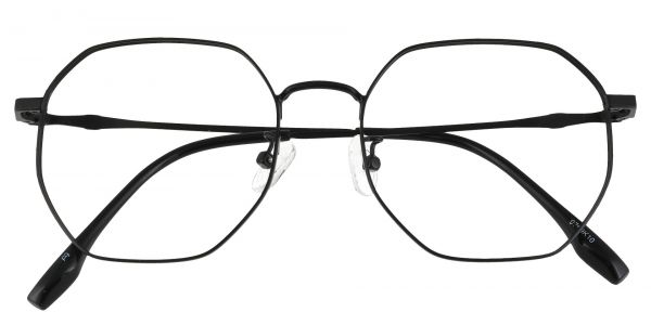 Tudor Geometric Prescription Glasses - Black