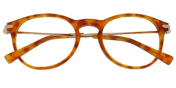 Lucas Oval Prescription Glasses - Tortoise
