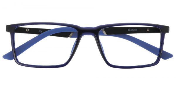 Hawk Rectangle Prescription Glasses - Blue