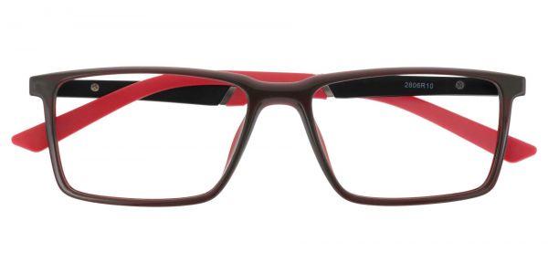 Hawk Rectangle Prescription Glasses - Red