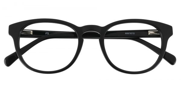 Bastille Oval Prescription Glasses - Black