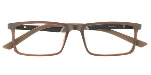 Ronan Rectangle Prescription Glasses - Brown