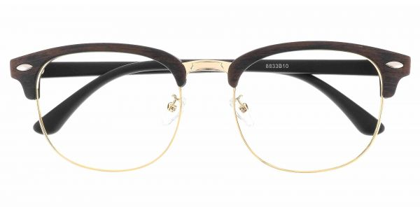 Tulsa Browline Prescription Glasses - Brown