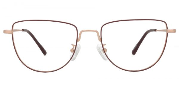 Vayda Geometric Prescription Glasses - Red