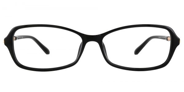 Clover Rectangle Prescription Glasses - Black