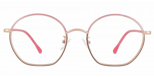 Rose Geometric Prescription Glasses - Yellow