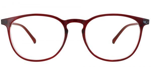 Selma Oval Prescription Glasses - Red