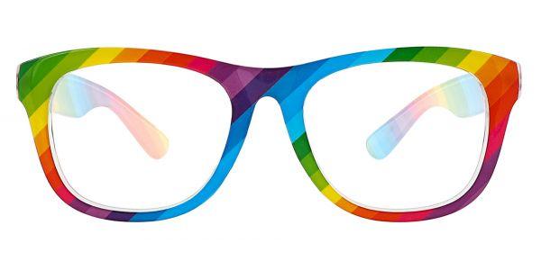 Spectrum Classic Square Prescription Glasses - Two-tone/Multi Color
