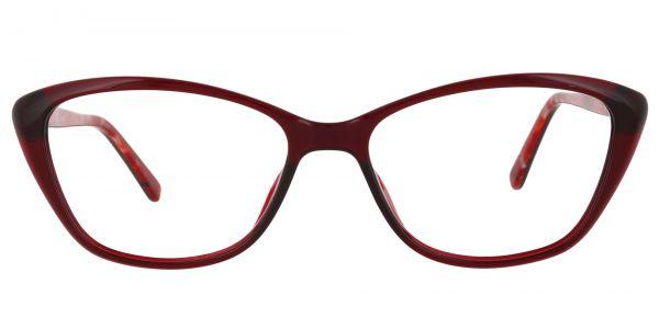 Idalia Cat Eye Prescription Glasses - Red