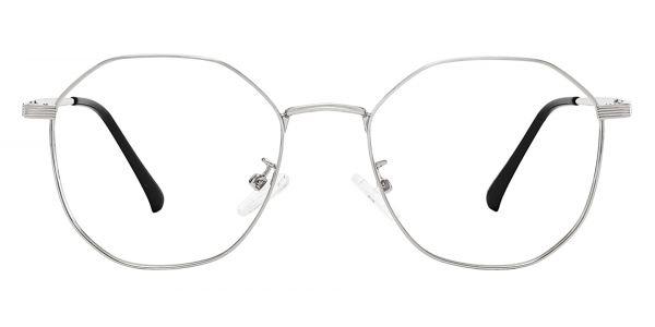 Cobb Geometric Prescription Glasses - Silver