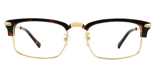 Dillard Browline Prescription Glasses - Gold