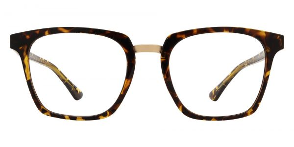 Delta Square Prescription Glasses - Tortoise