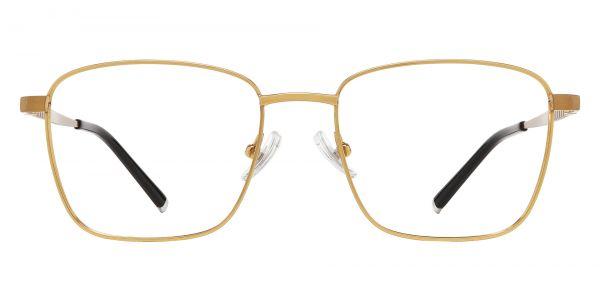 May Square Prescription Glasses - Gold