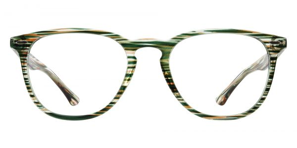 Sycamore Oval Prescription Glasses - Green