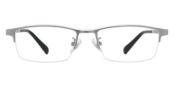 Burlington Rectangle Prescription Glasses - Silver
