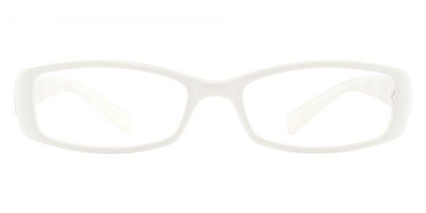 Medora Rectangle Prescription Glasses - White