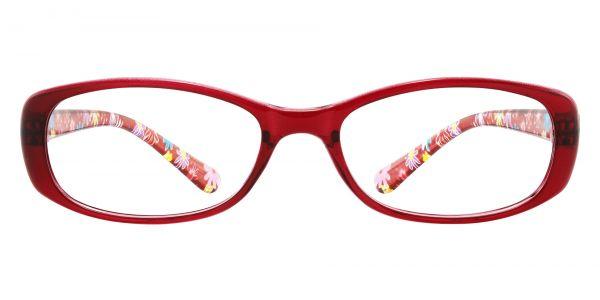 Bethesda Rectangle Prescription Glasses - Red