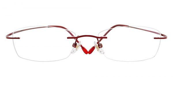 Providence Rimless Prescription Glasses - Red