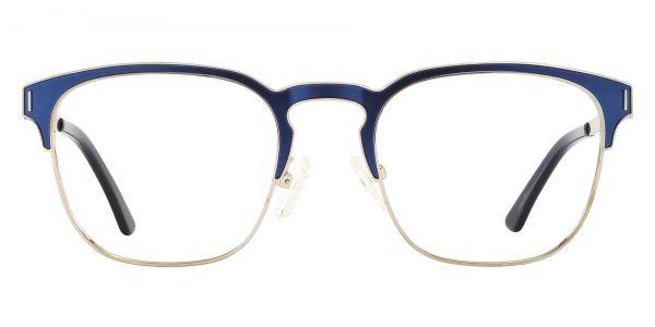 Oran Browline Prescription Glasses - Blue