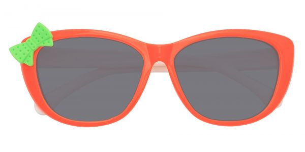Mandarin Square Prescription Glasses - Orange