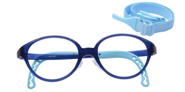Zany Oval Eyeglasses For Kids