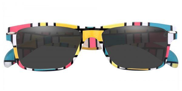 Tate Rectangle Prescription Glasses - Two-tone/Multi Color