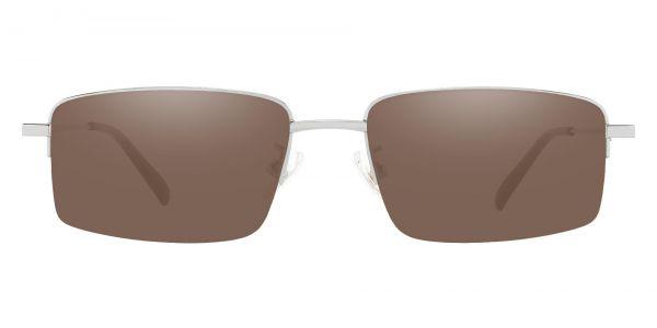 Wayne Rectangle Prescription Glasses - Silver-1