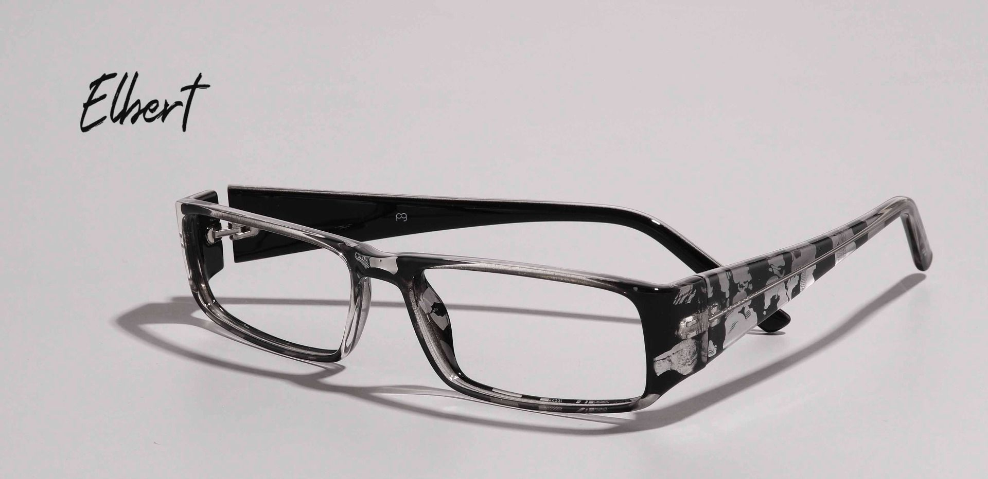 Elbert Rectangle Single Vision Glasses - Black