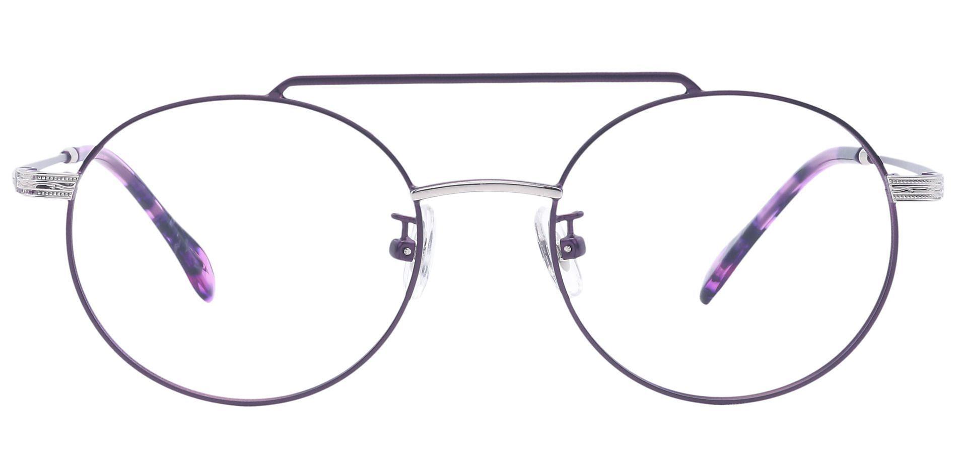 Julia Oval Prescription Glasses - Purple