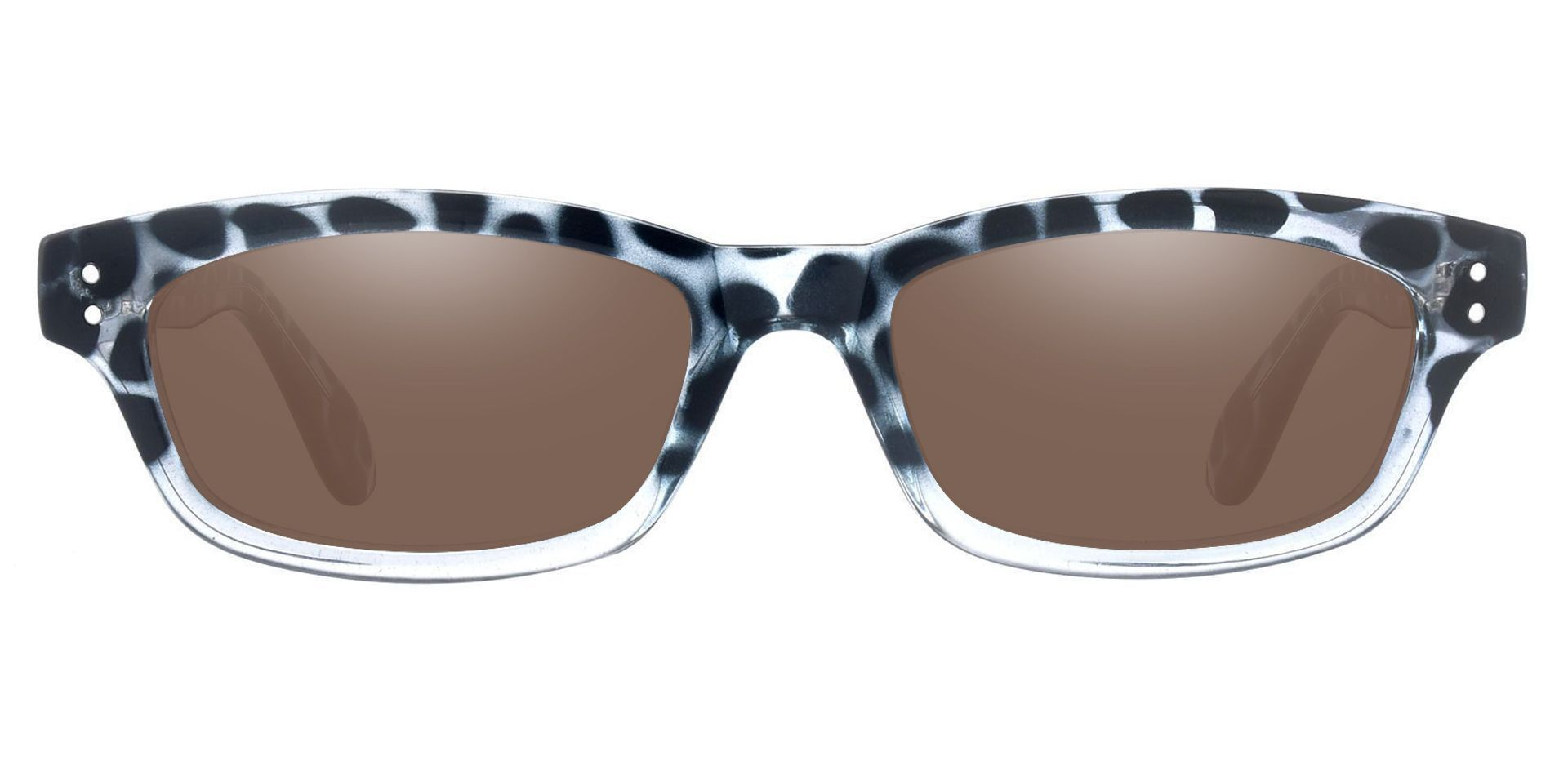 Panthera Rectangle Prescription Sunglasses -  Blue Frame With Brown Lenses