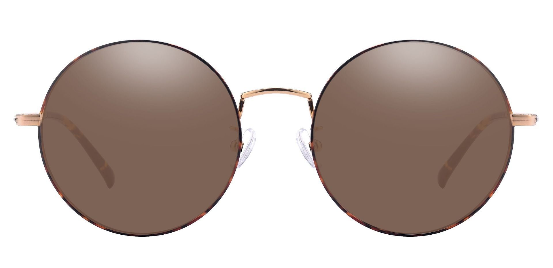 Sawyer Round Prescription Sunglasses -  Tortoise Frame With Brown Lenses