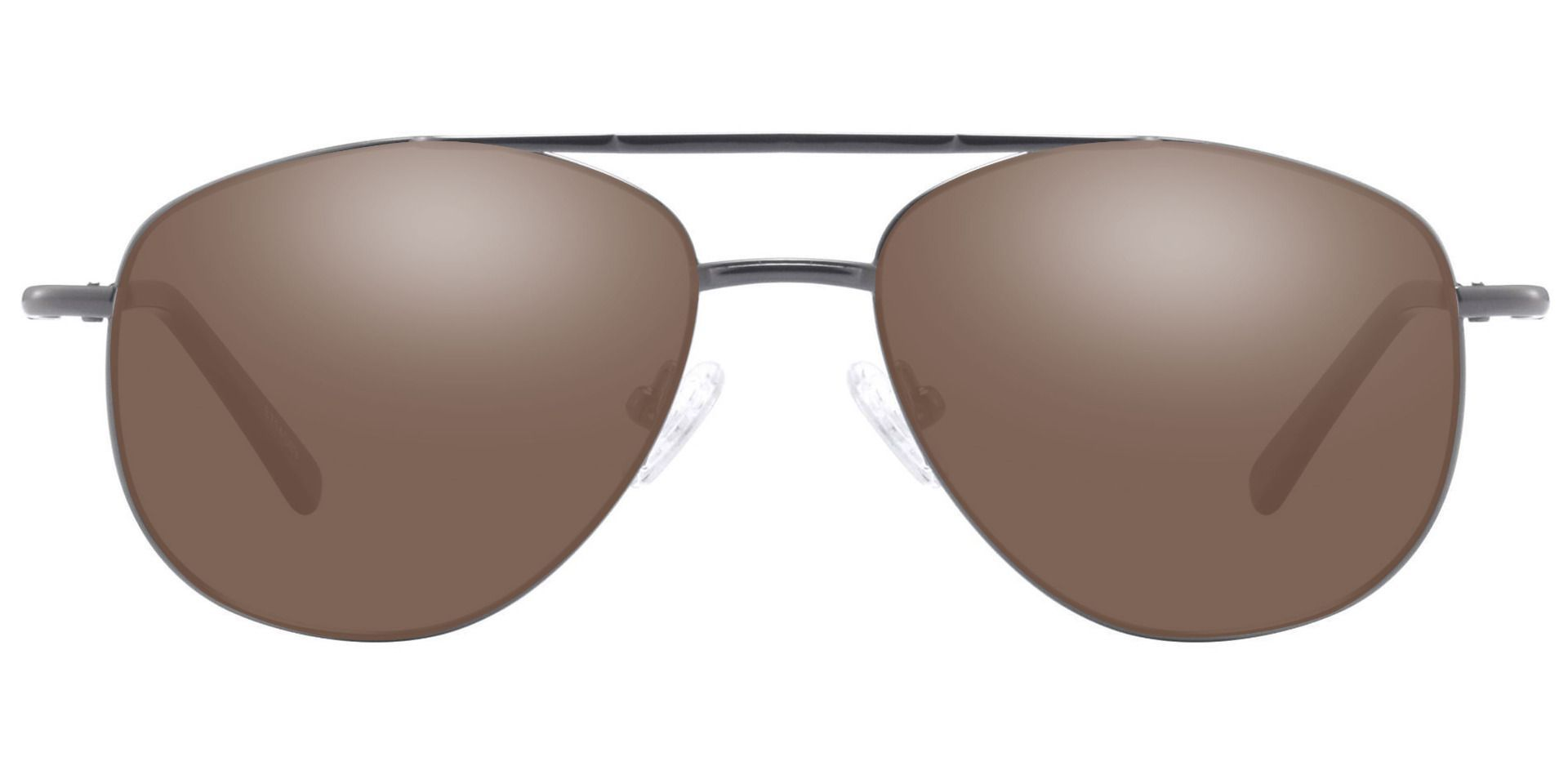Dwight Aviator Prescription Sunglasses - Gray Frame With Brown Lenses