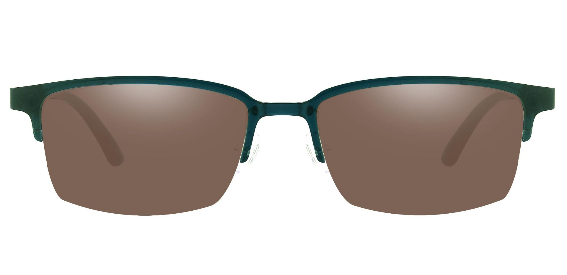 Cello Rectangle Prescription Sunglasses - Blue Frame With Brown Lenses