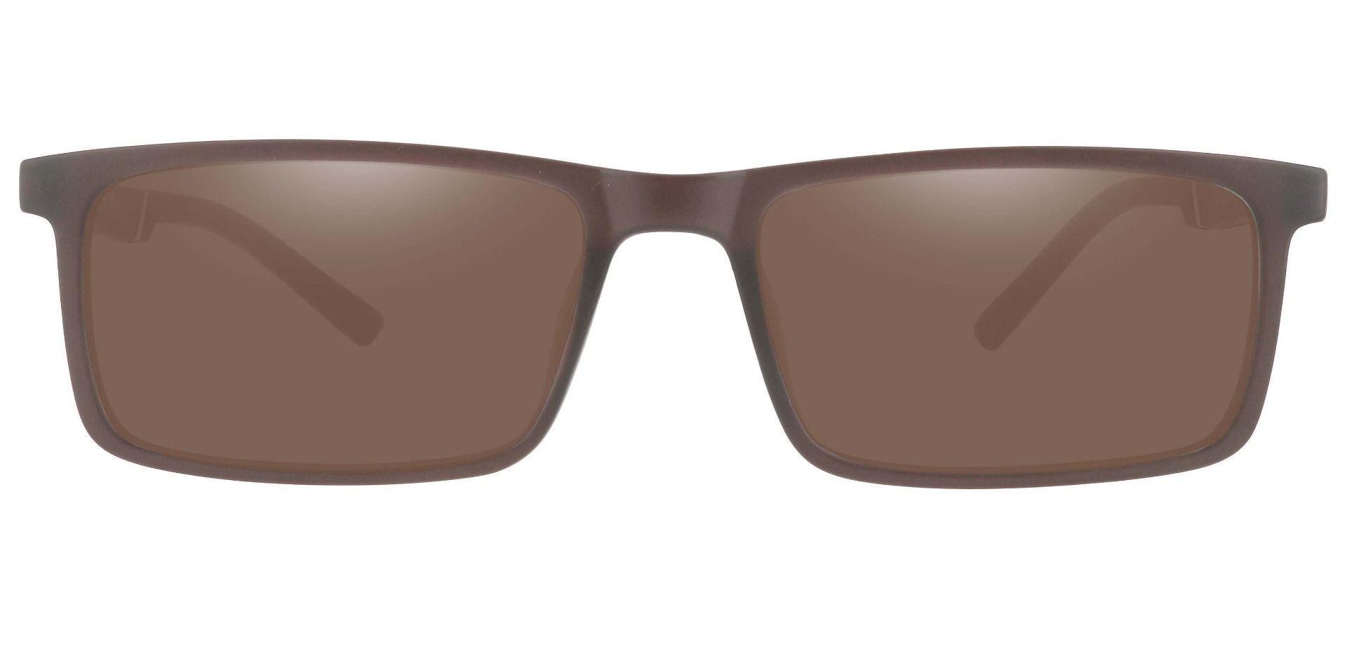 Ronan Rectangle Prescription Sunglasses - Brown Frame With Brown Lenses