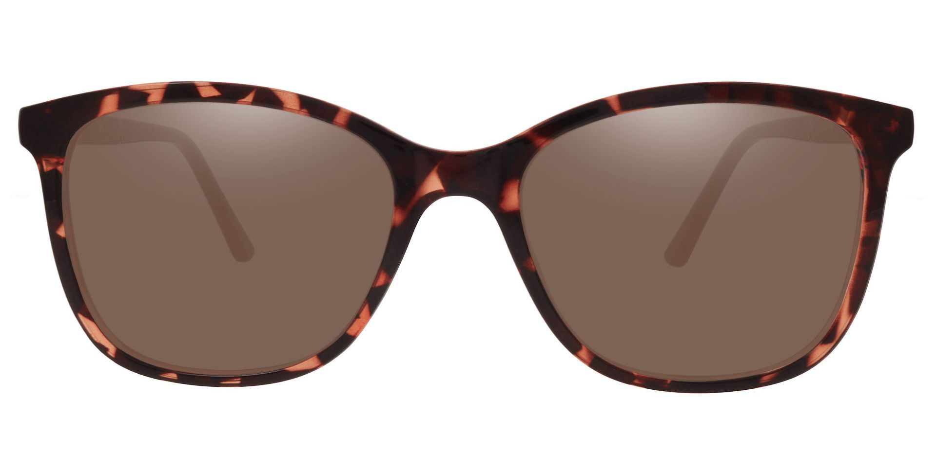 Halpin Square Prescription Sunglasses - Tortoise Frame With Brown Lenses