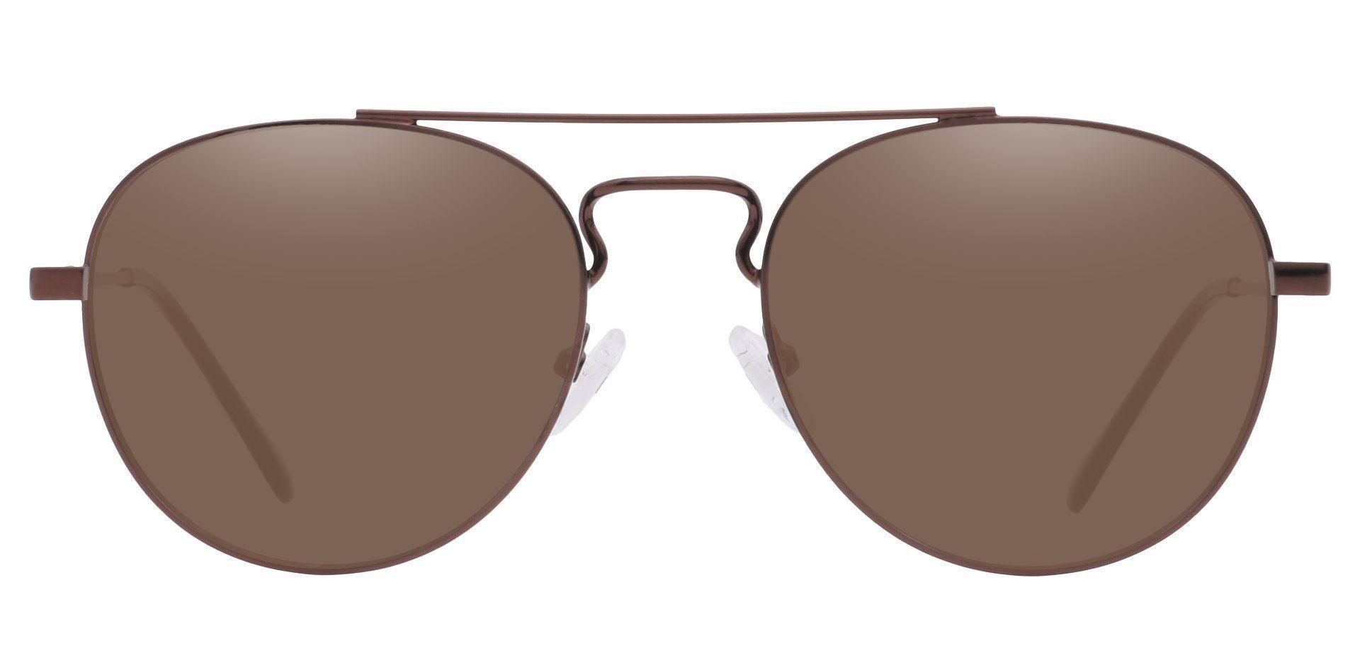 Trapp Aviator Progressive Sunglasses - Brown Frame With Brown Lenses