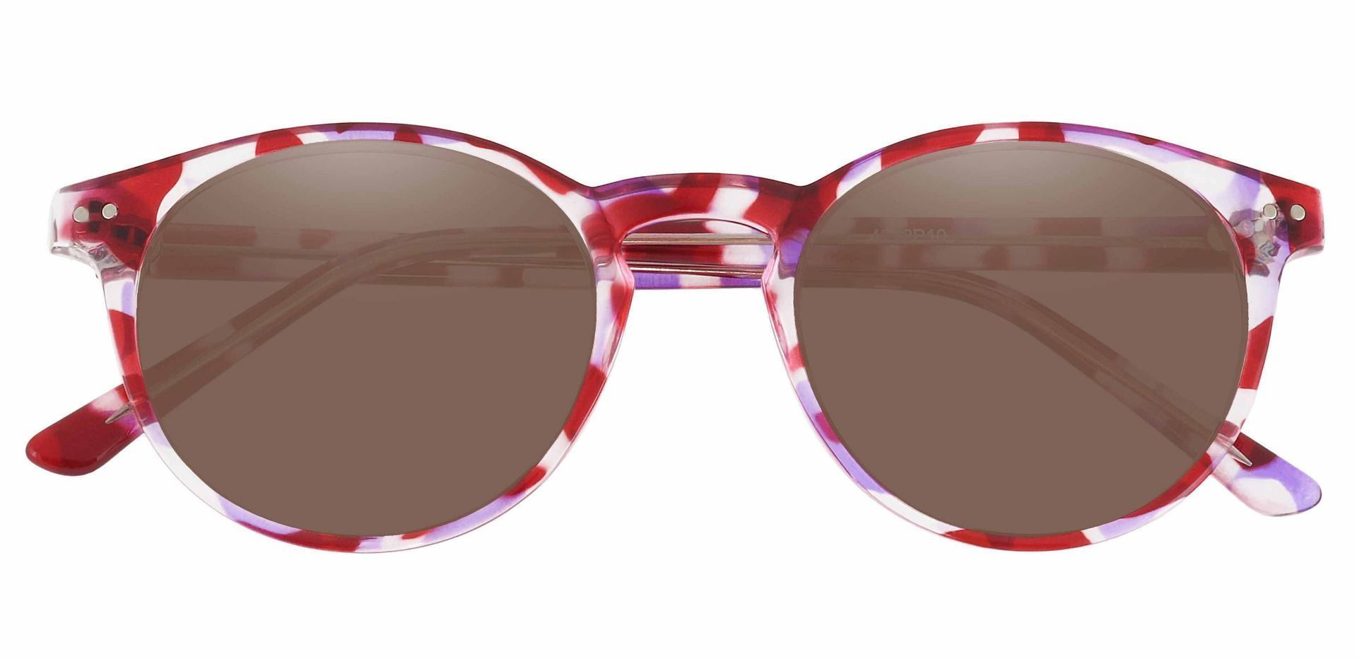 Harmony Oval Prescription Sunglasses - Purple Frame With Brown Lenses
