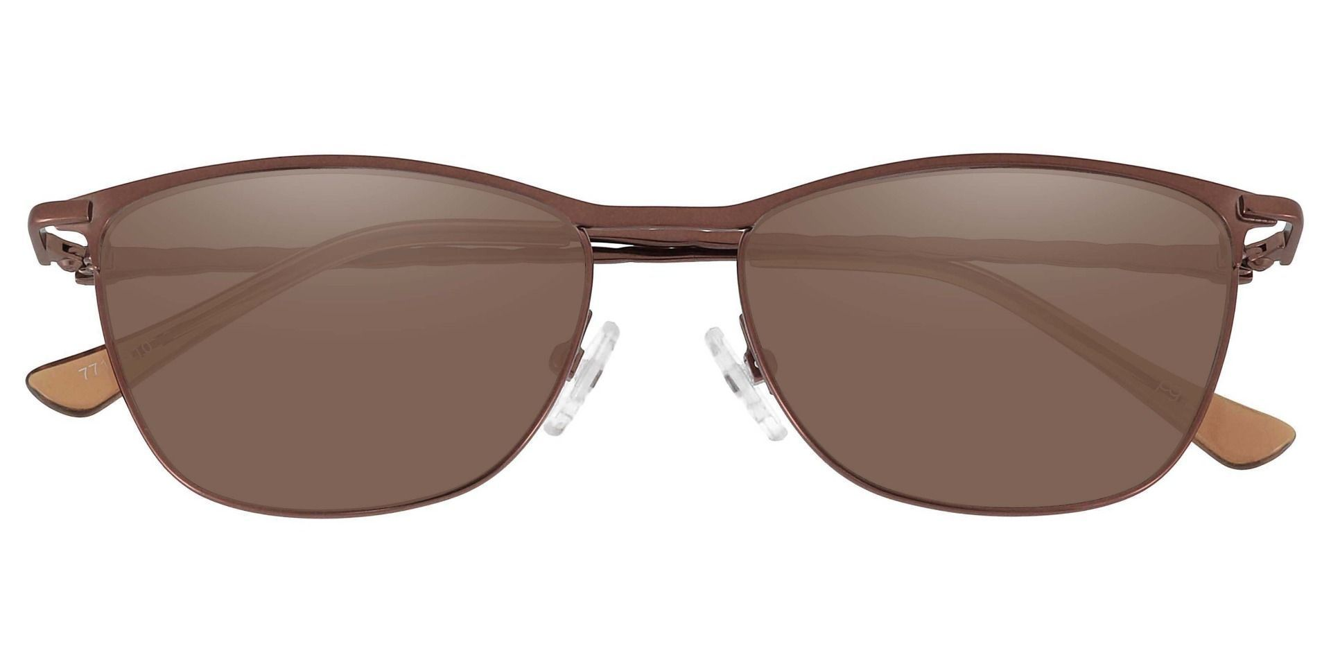Andrea Cat Eye Reading Sunglasses - Brown Frame With Brown Lenses