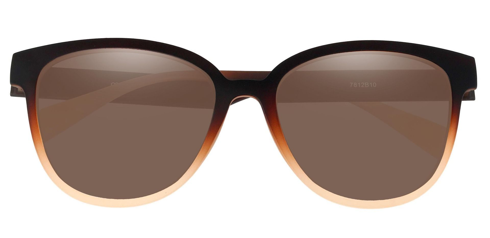 Newport Oval Lined Bifocal Sunglasses - Brown Frame With Brown Lenses