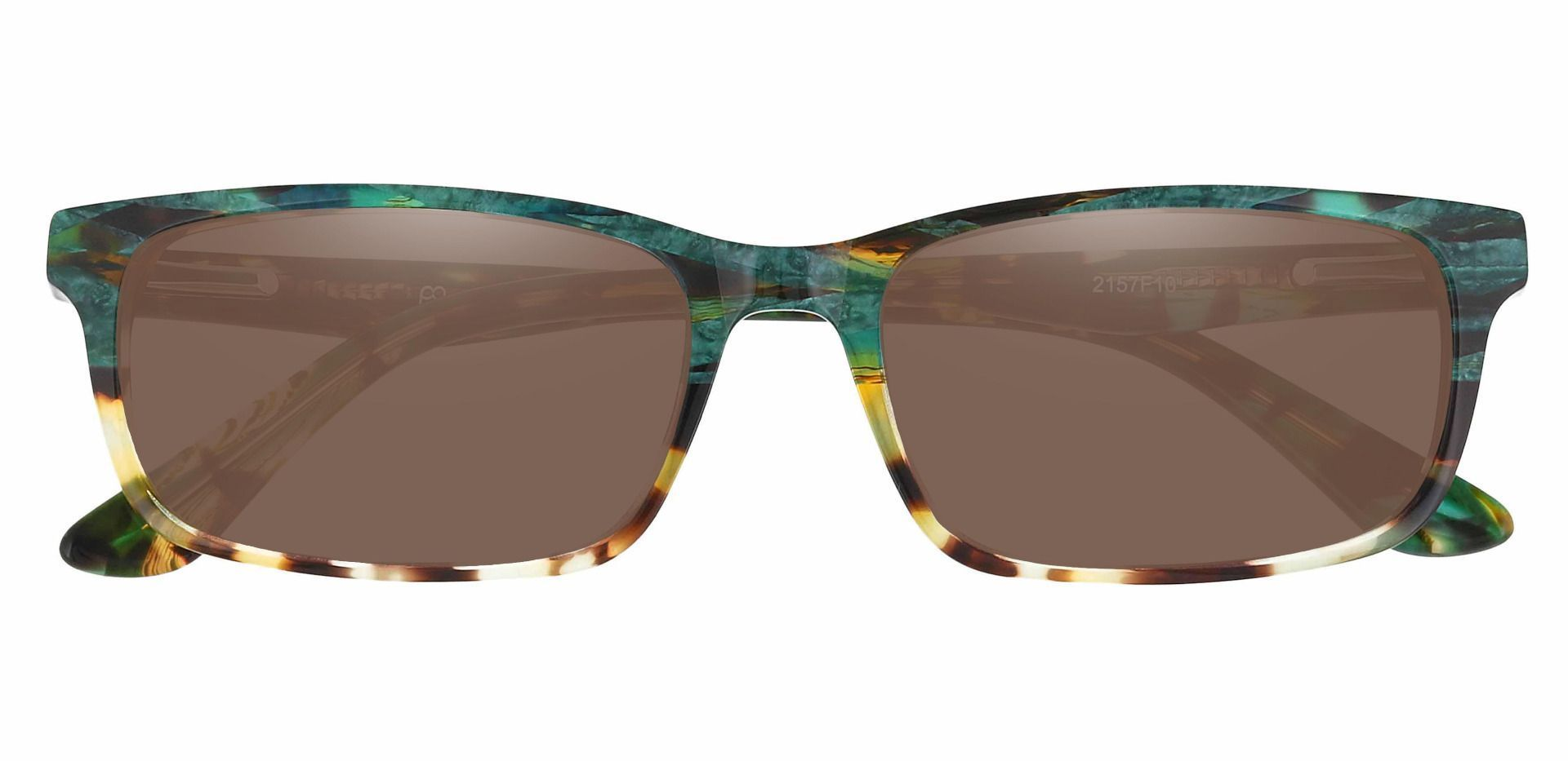 Ennis Rectangle Non-Rx Sunglasses - Floral Frame With Brown Lenses