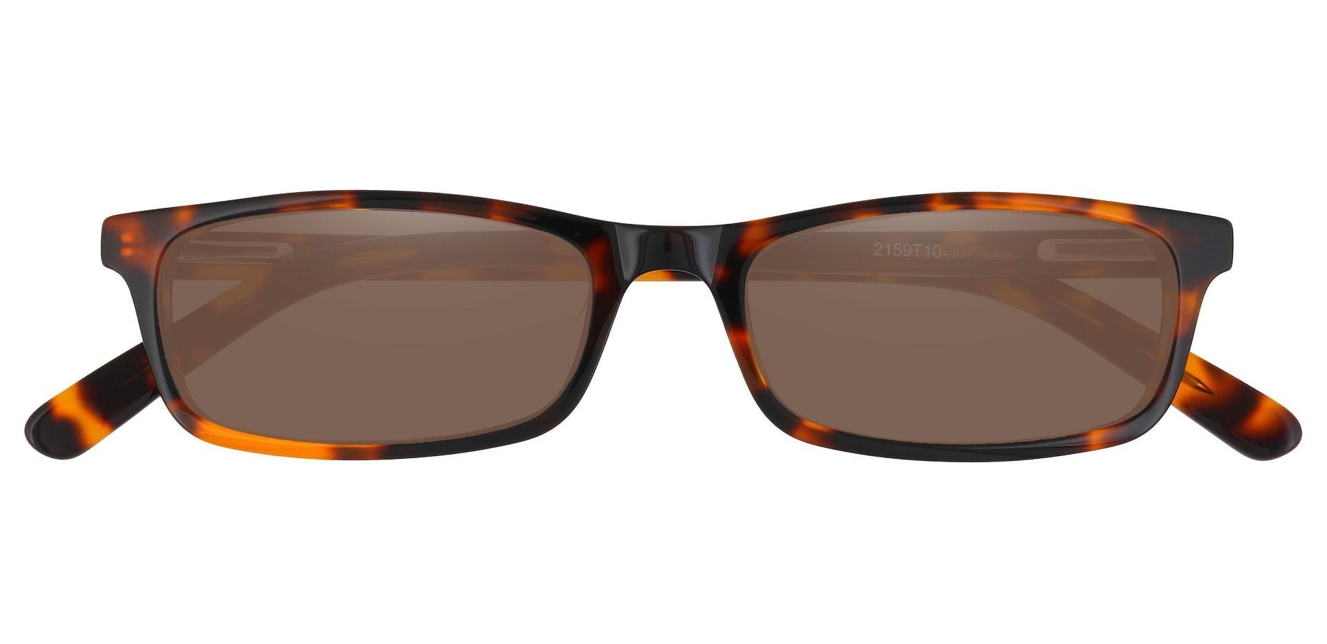 Palisades Rectangle Non-Rx Sunglasses - Tortoise Frame With Brown Lenses