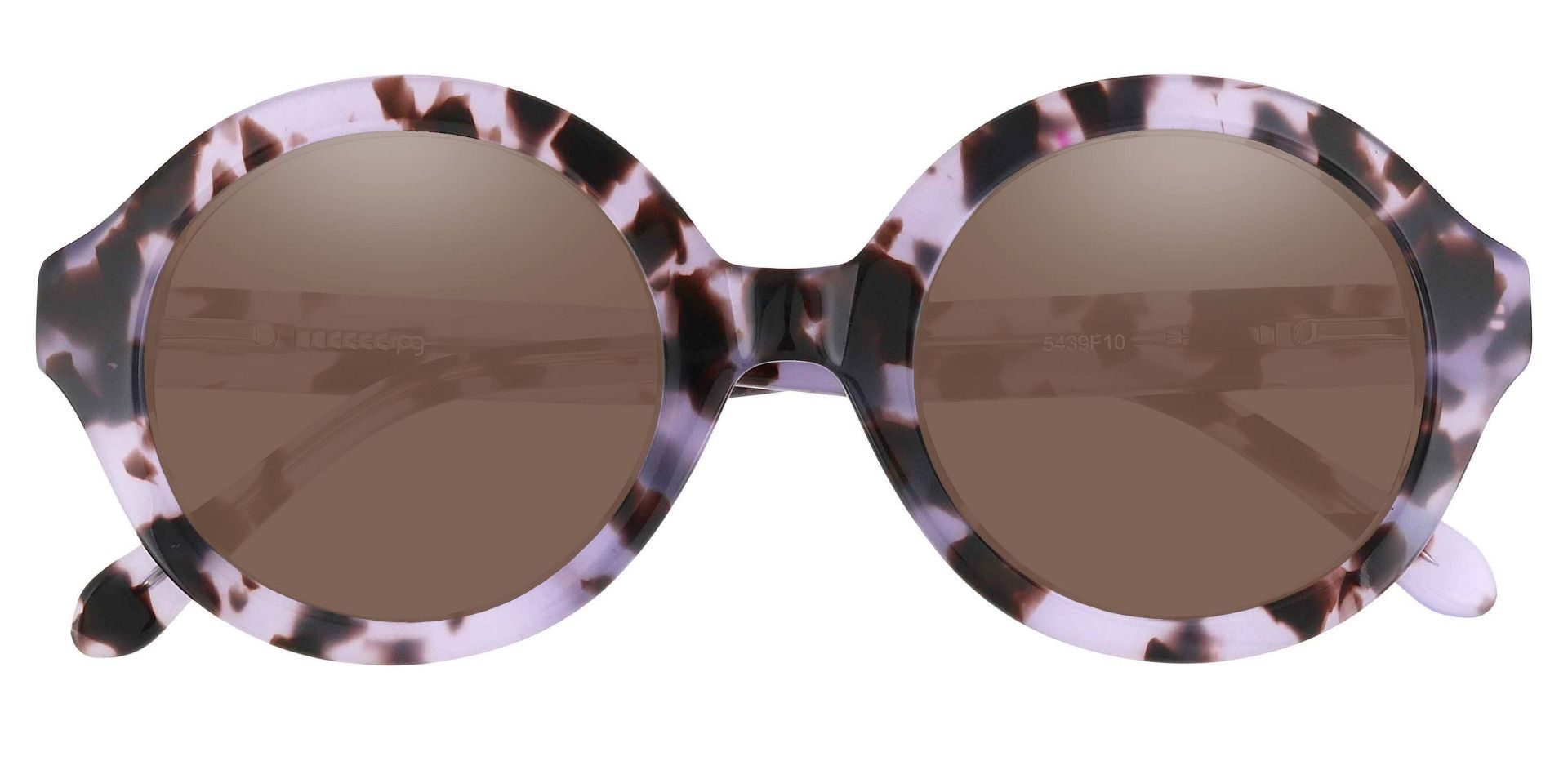 Clara Round Reading Sunglasses - Floral Frame With Brown Lenses