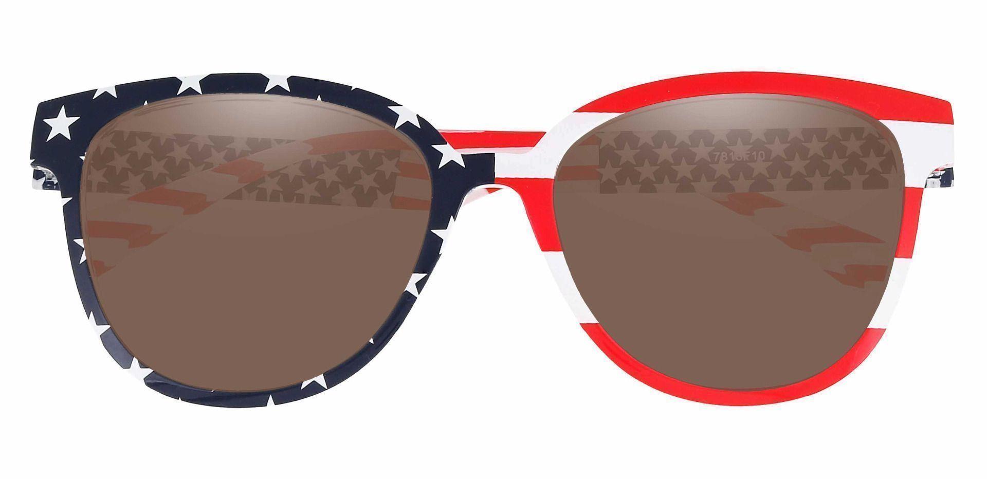 Union Square Progressive Sunglasses - Floral Frame With Brown Lenses