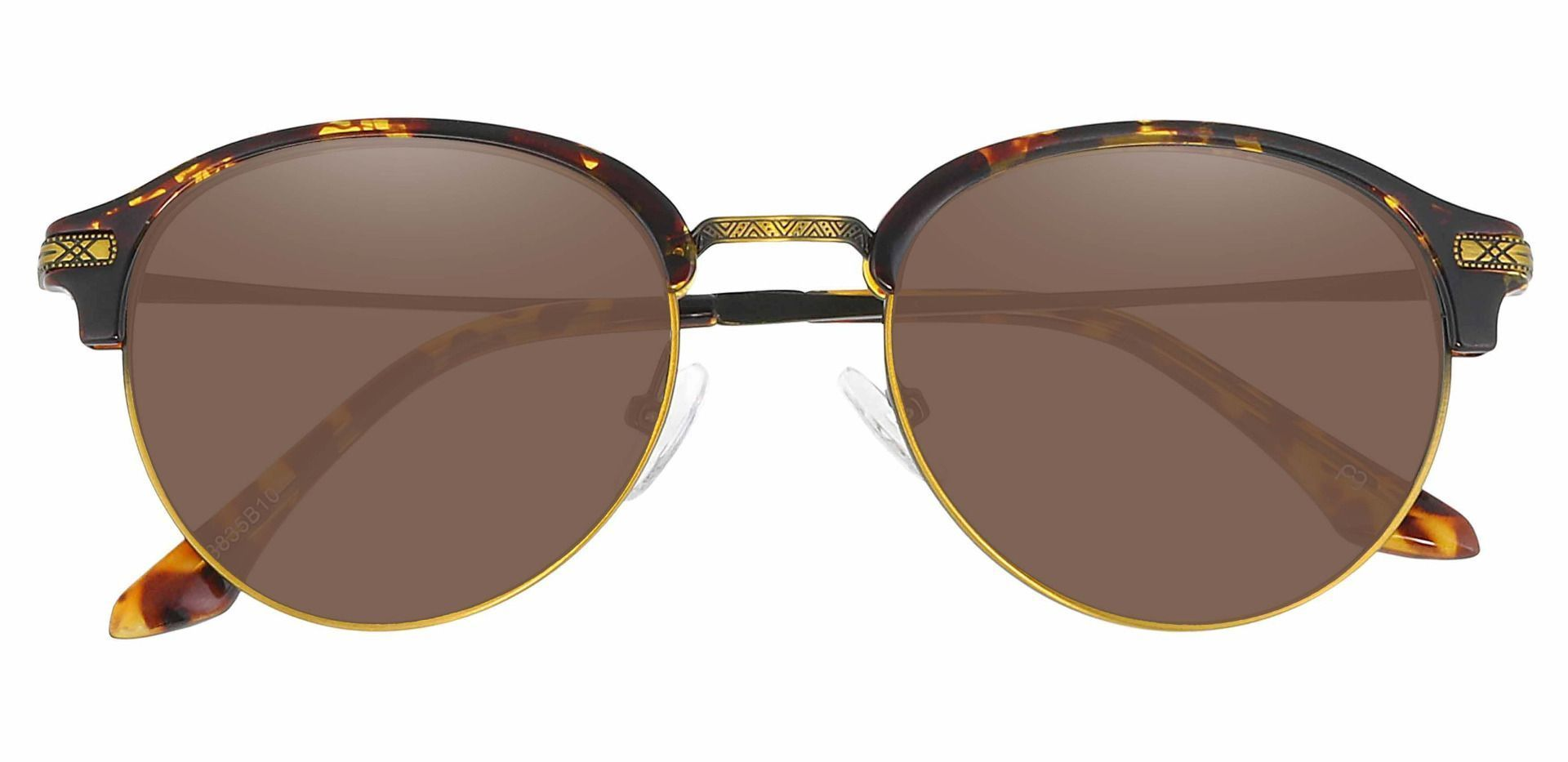 Akron Browline Lined Bifocal Sunglasses - Tortoise Frame With Brown Lenses