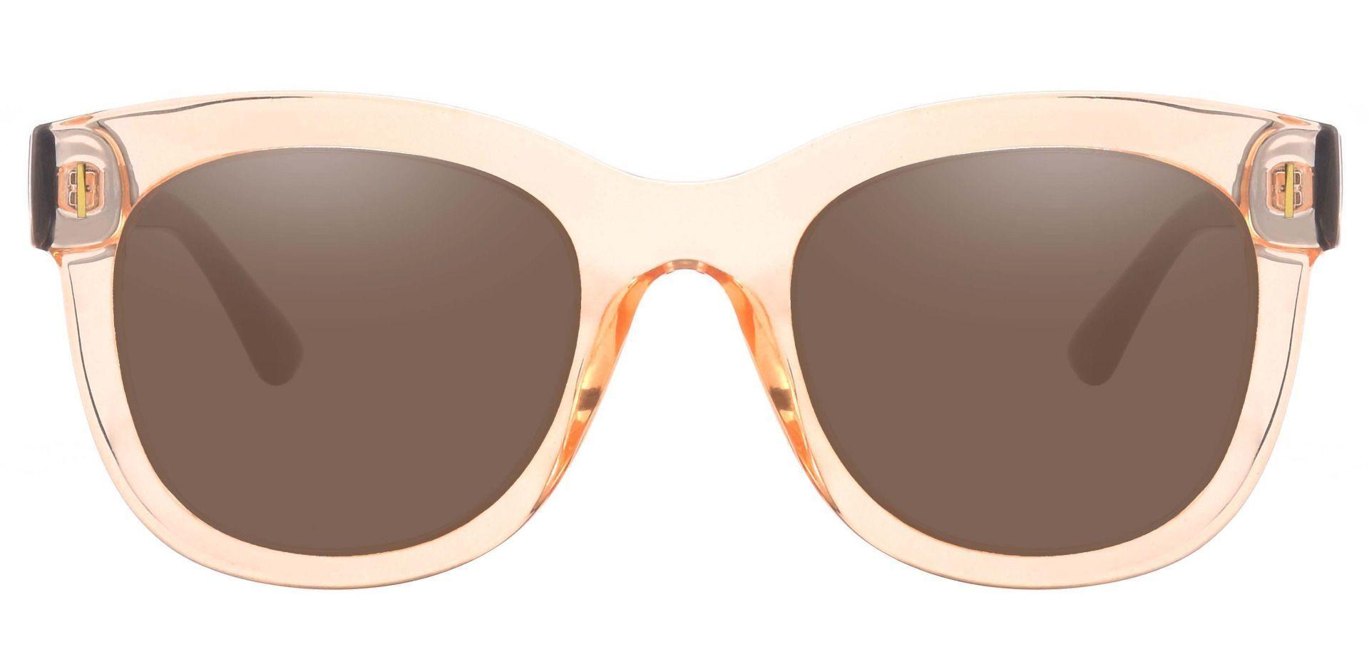 Saratoga Square Prescription Sunglasses - Brown Frame With Brown Lenses