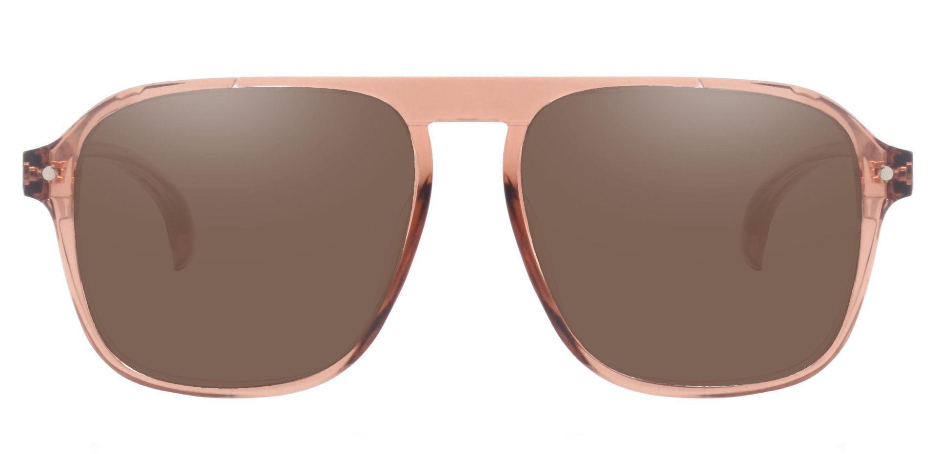 Gideon Aviator Progressive Sunglasses - Brown Frame With Brown Lenses